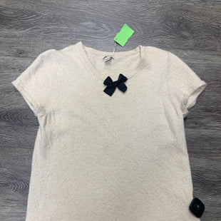Primary Photo - BRAND: J CREW STYLE: TOP SHORT SLEEVE COLOR: BEIGE SIZE: L SKU: 242-242125-96