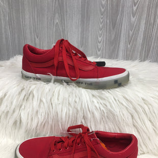 Primary Photo - BRAND: VANS STYLE: SHOES ATHLETIC COLOR: RED SIZE: 9.5 SKU: 242-24287-2444