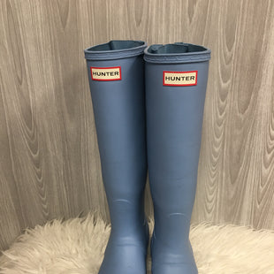 Primary Photo - BRAND: HUNTER STYLE: BOOTS KNEE COLOR: BABY BLUE SIZE: 8 SKU: 242-24264-40887
