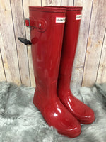 Photo #2 - BRAND: HUNTER <BR>STYLE: BOOTS KNEE <BR>COLOR: RED <BR>SIZE: 8 <BR>SKU: 242-242101-362