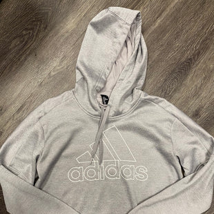 Primary Photo - BRAND: ADIDAS STYLE: SWEATSHIRT HOODIE COLOR: GREY SIZE: M SKU: 242-24213-119093