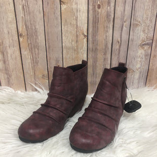 Primary Photo - BRAND: MAURICES STYLE: BOOTS ANKLE COLOR: BURGUNDY SIZE: 8 SKU: 242-24213-121278