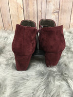 Photo #2 - BRAND: MICHAEL ANTONIO <BR>STYLE: BOOTS ANKLE <BR>COLOR: MAROON <BR>SIZE: 7.5 <BR>SKU: 242-24264-36851