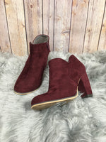 Primary Photo - BRAND: MICHAEL ANTONIO <BR>STYLE: BOOTS ANKLE <BR>COLOR: MAROON <BR>SIZE: 7.5 <BR>SKU: 242-24264-36851