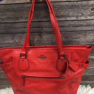 Primary Photo - BRAND: COACH STYLE: HANDBAG DESIGNER COLOR: RED SIZE: LARGE SKU: 242-24290-2624214 BY 13