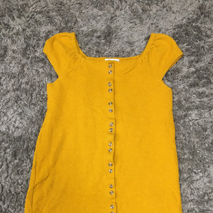Primary Photo - BRAND: MADEWELL STYLE: DRESS SHORT SHORT SLEEVE COLOR: MUSTARD SIZE: M SKU: 242-24213-128013