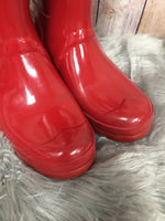 Photo #1 - BRAND: HUNTER <BR>STYLE: BOOTS KNEE <BR>COLOR: RED <BR>SIZE: 8 <BR>SKU: 242-242101-362