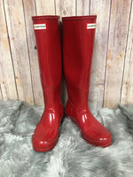 Primary Photo - BRAND: HUNTER <BR>STYLE: BOOTS KNEE <BR>COLOR: RED <BR>SIZE: 8 <BR>SKU: 242-242101-362