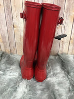 Photo #3 - BRAND: HUNTER <BR>STYLE: BOOTS KNEE <BR>COLOR: RED <BR>SIZE: 8 <BR>SKU: 242-242101-362