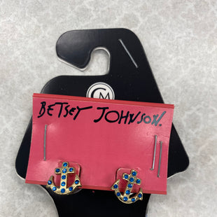 Primary Photo - BRAND: BETSEY JOHNSON STYLE: EARRINGS COLOR: TURQUOISE SKU: 242-24264-40583