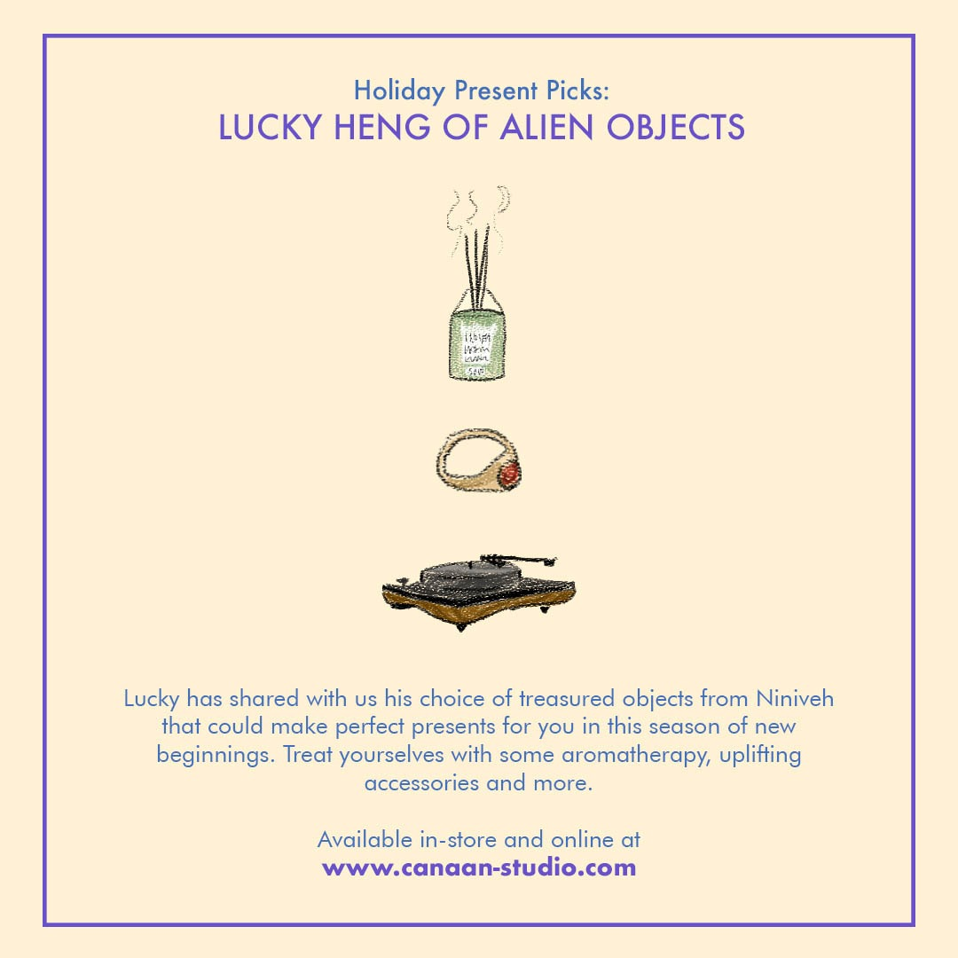 Niniveh Holiday Present Picks Lucky Heng Alien Objects