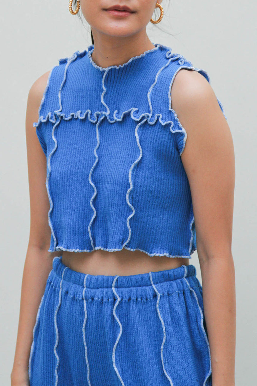 Laveste Sleeveless Top in Blue