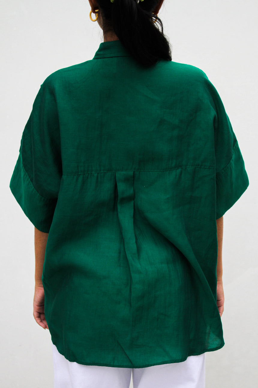 Emerald Chemise with Jade Buttons