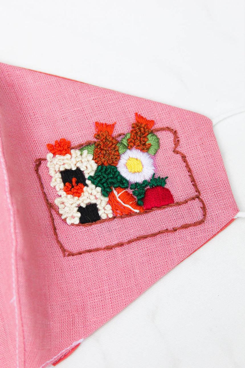 Bento Hand Embroidered Mask