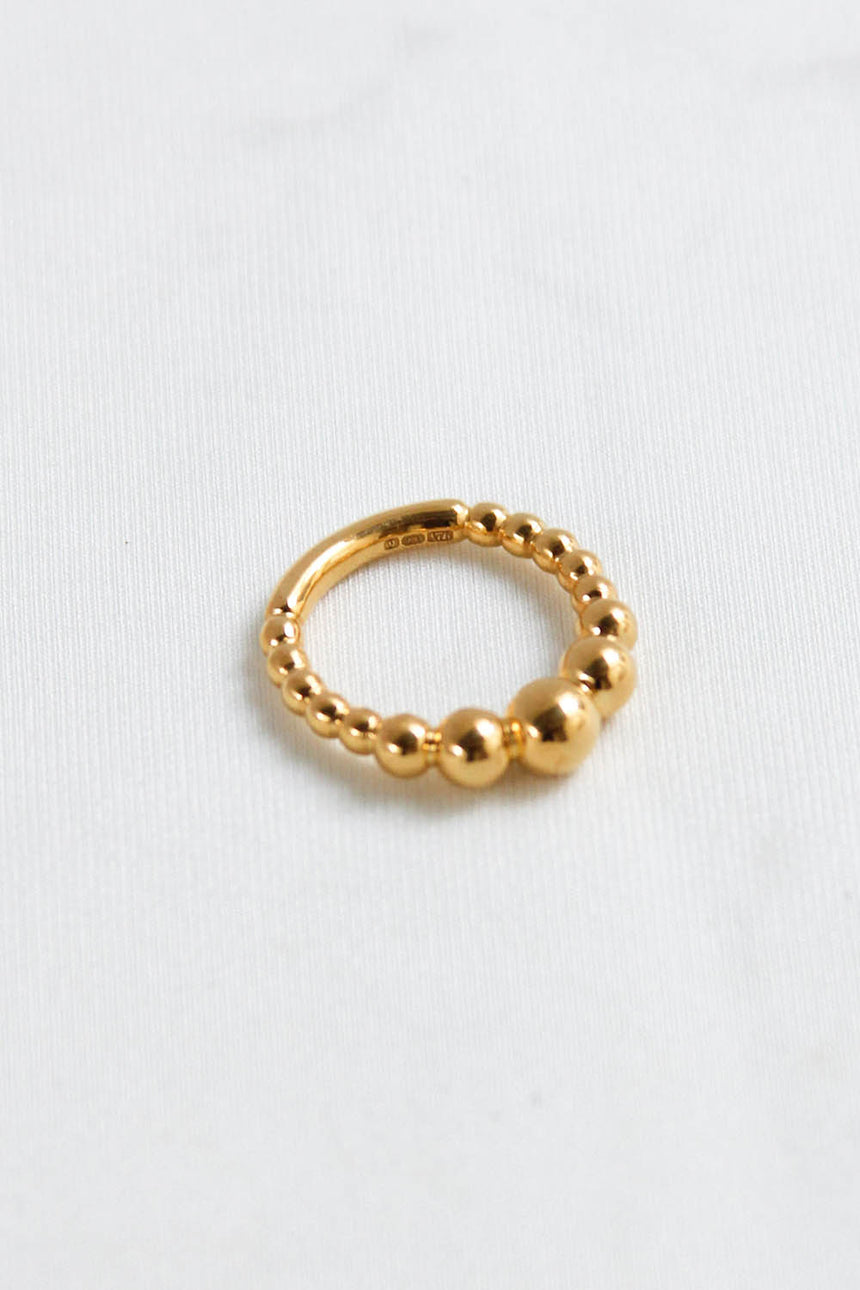 Bubble Bun Ring in Gold