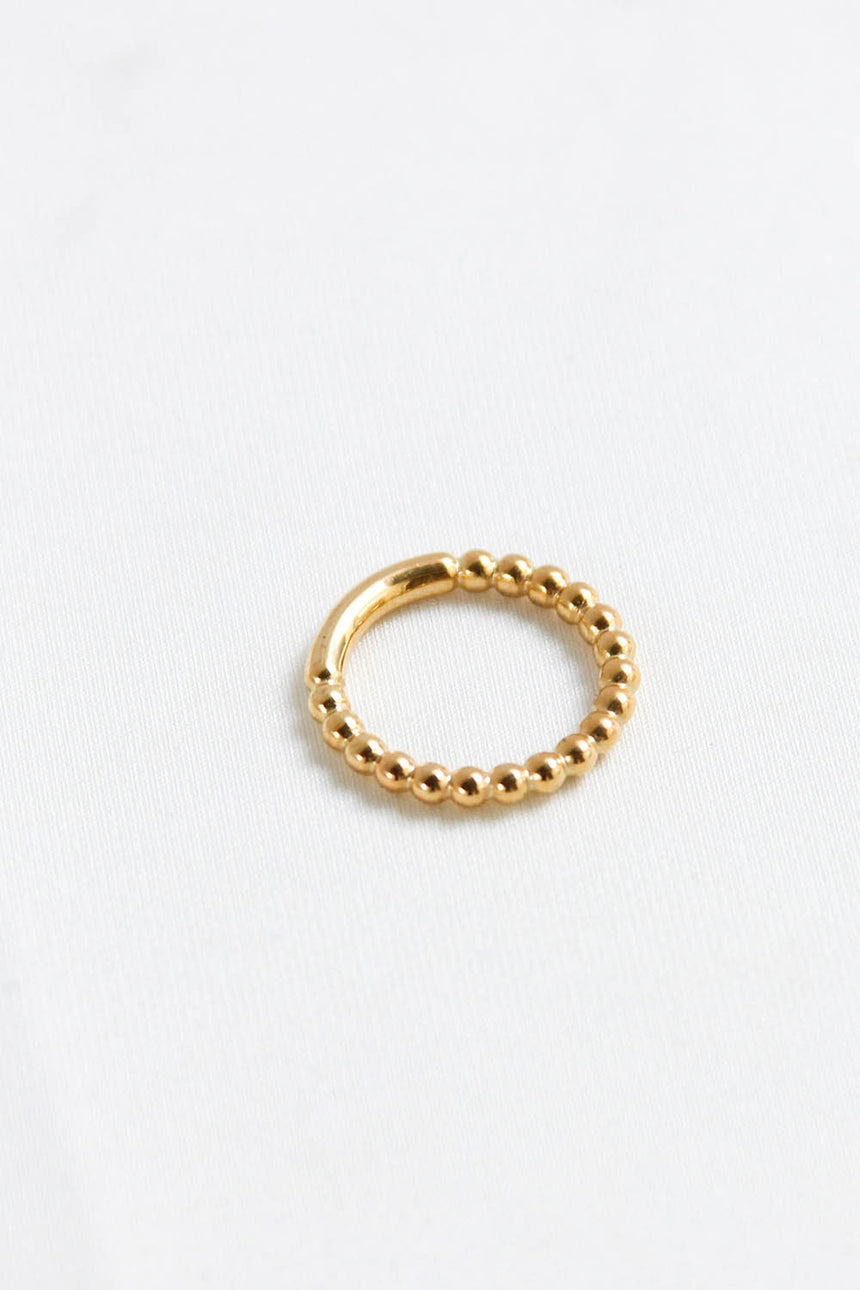 Bubble Rue Ring in Gold
