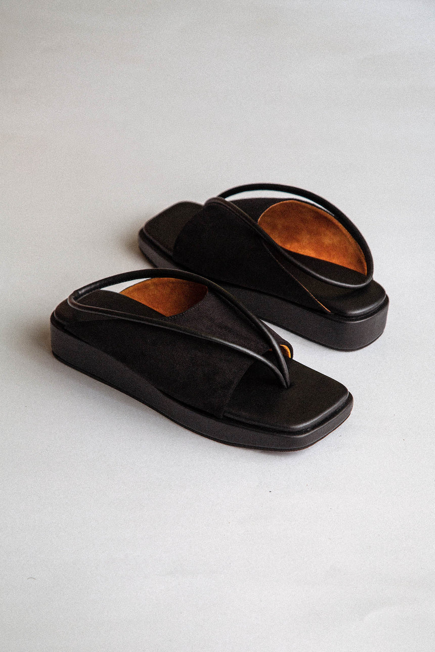 Hollow Sandals in Black