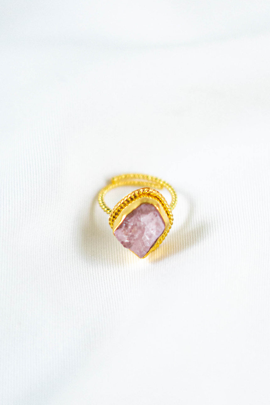 Olympia Ring with Morganite Stone