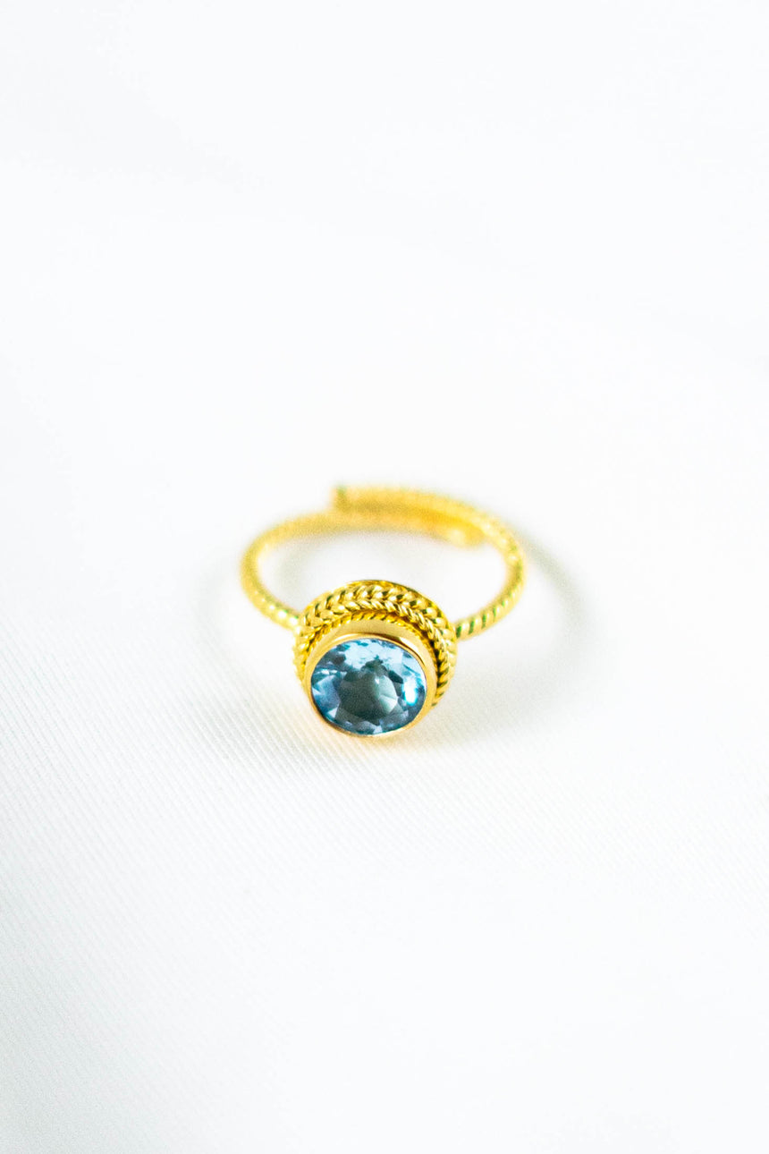 Celleste Ring with Blue Topaz Stone