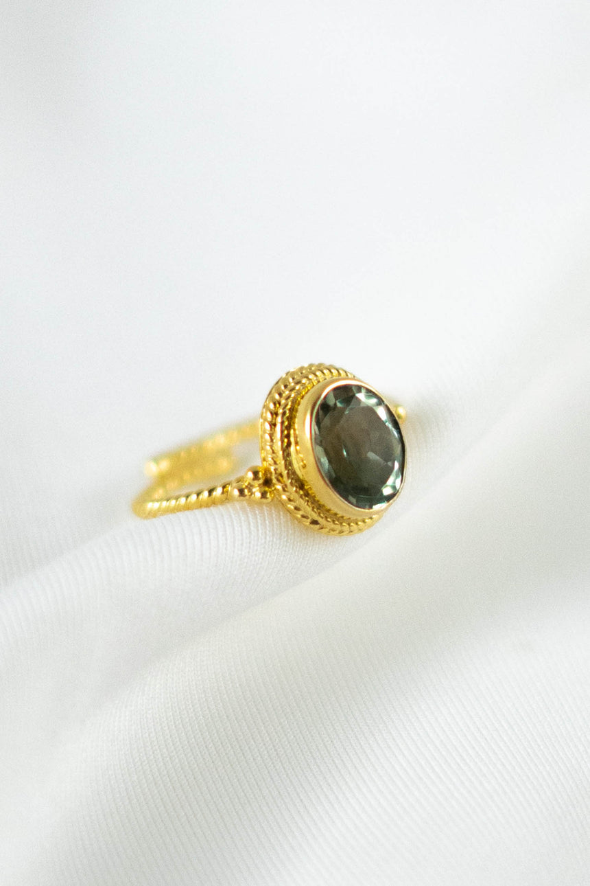 Aurora Ring with Prasiolite Stone
