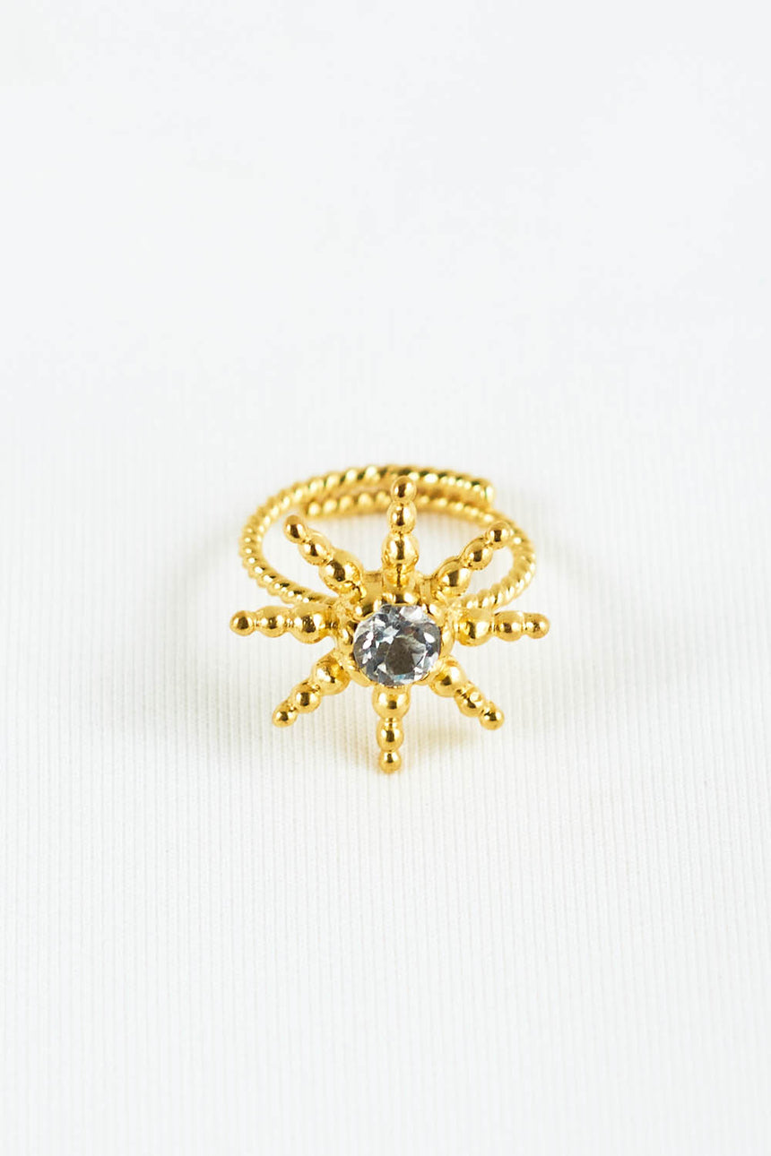 Antares Ring with White Topaz