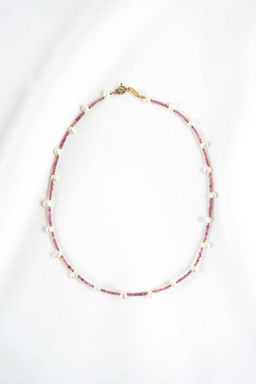 Serenissima Fringe Necklace with Pink Tourmalines