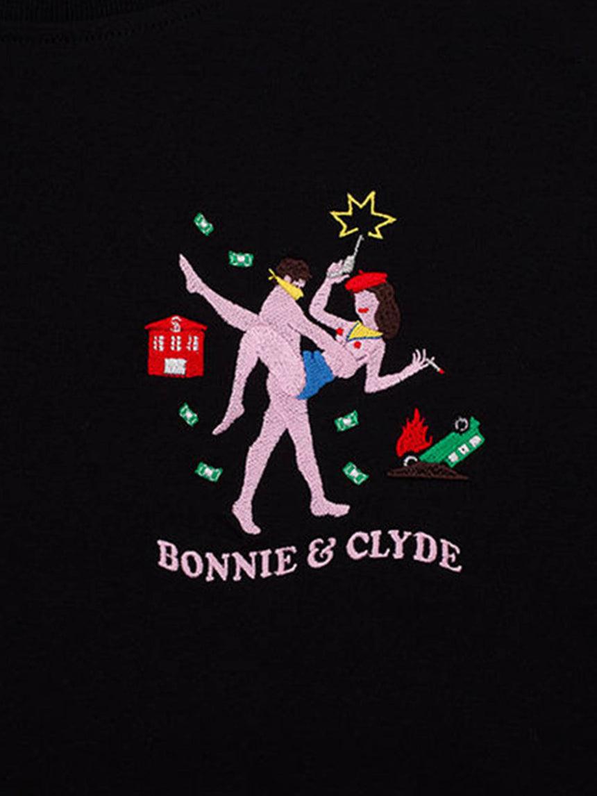 Bonnie on Clyde Tee in Black