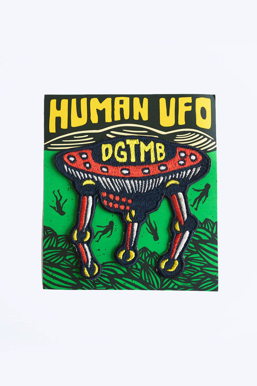 Human UFO Patch in Orange
