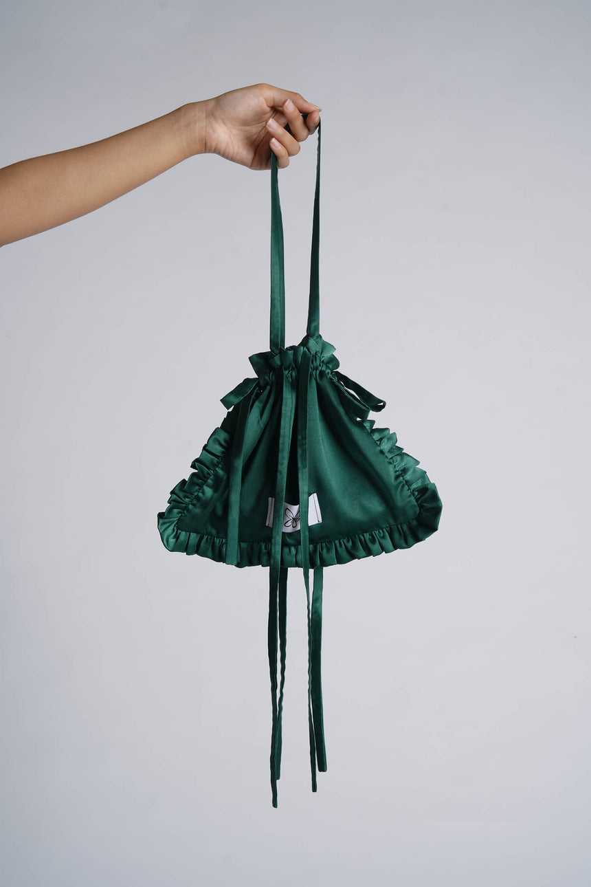 Logo Pouch Bag in Emerald