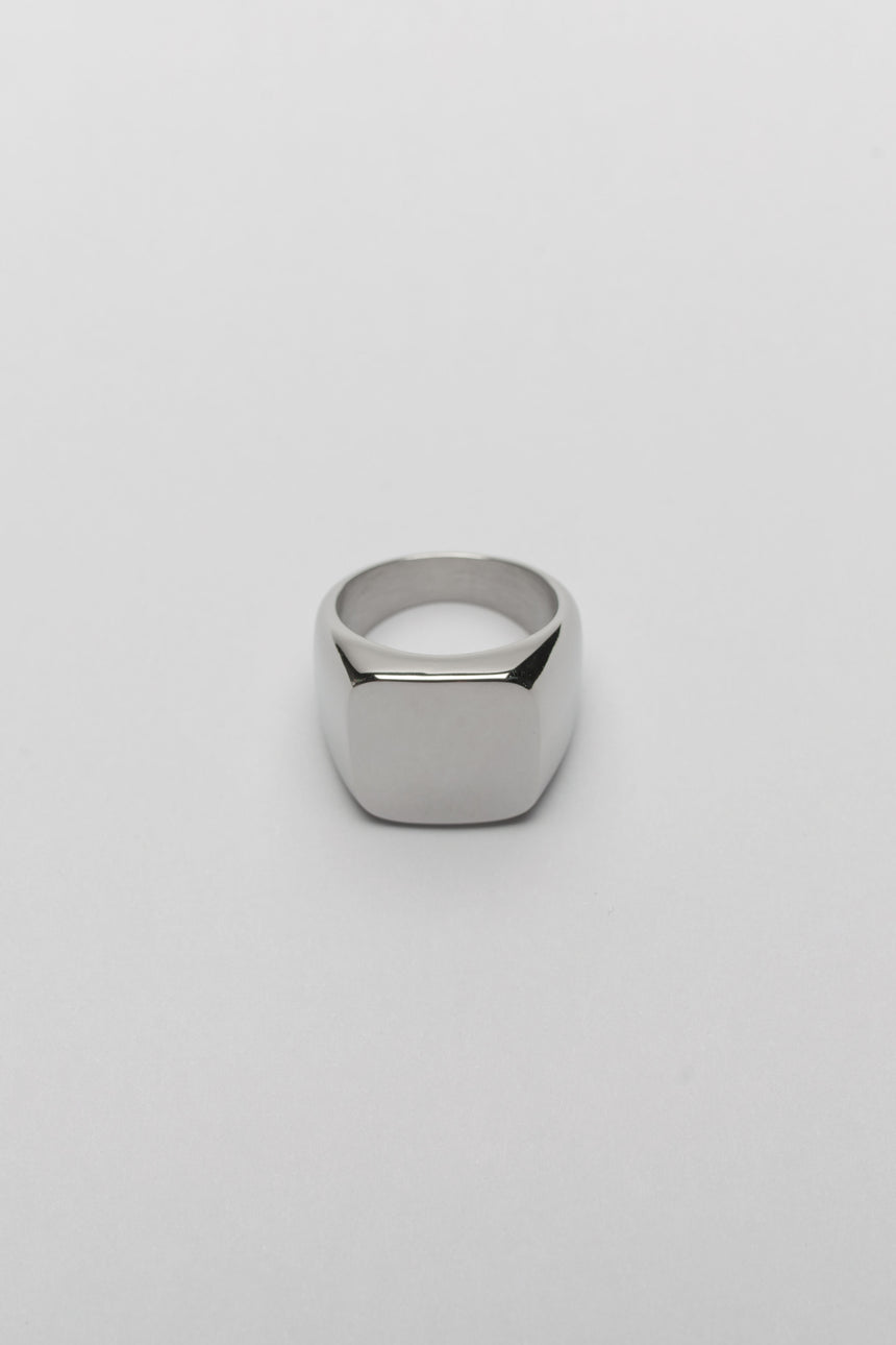 Rounded Edge Ring in Silver