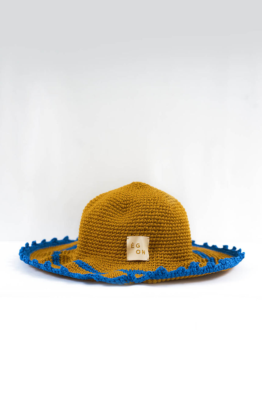 La Crêpe Hat in Blue Emmenthal