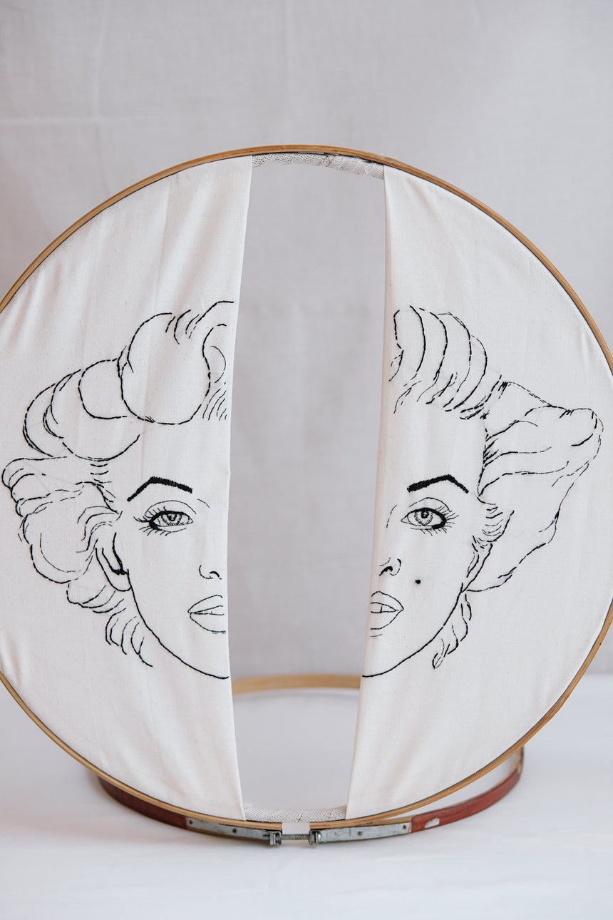 Marilyn Monroe Embroidery
