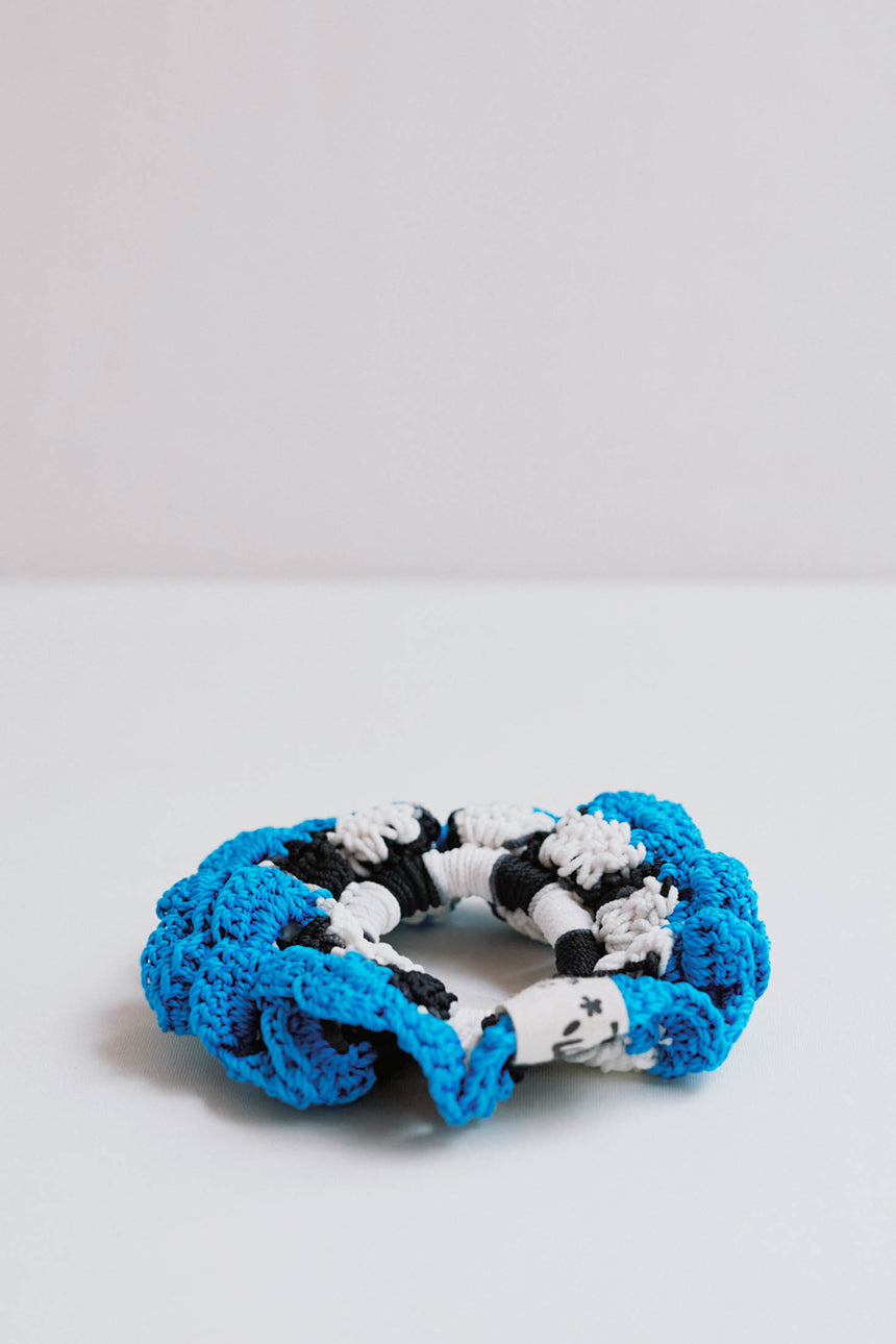 Le Scrunchie in Zebre Blue