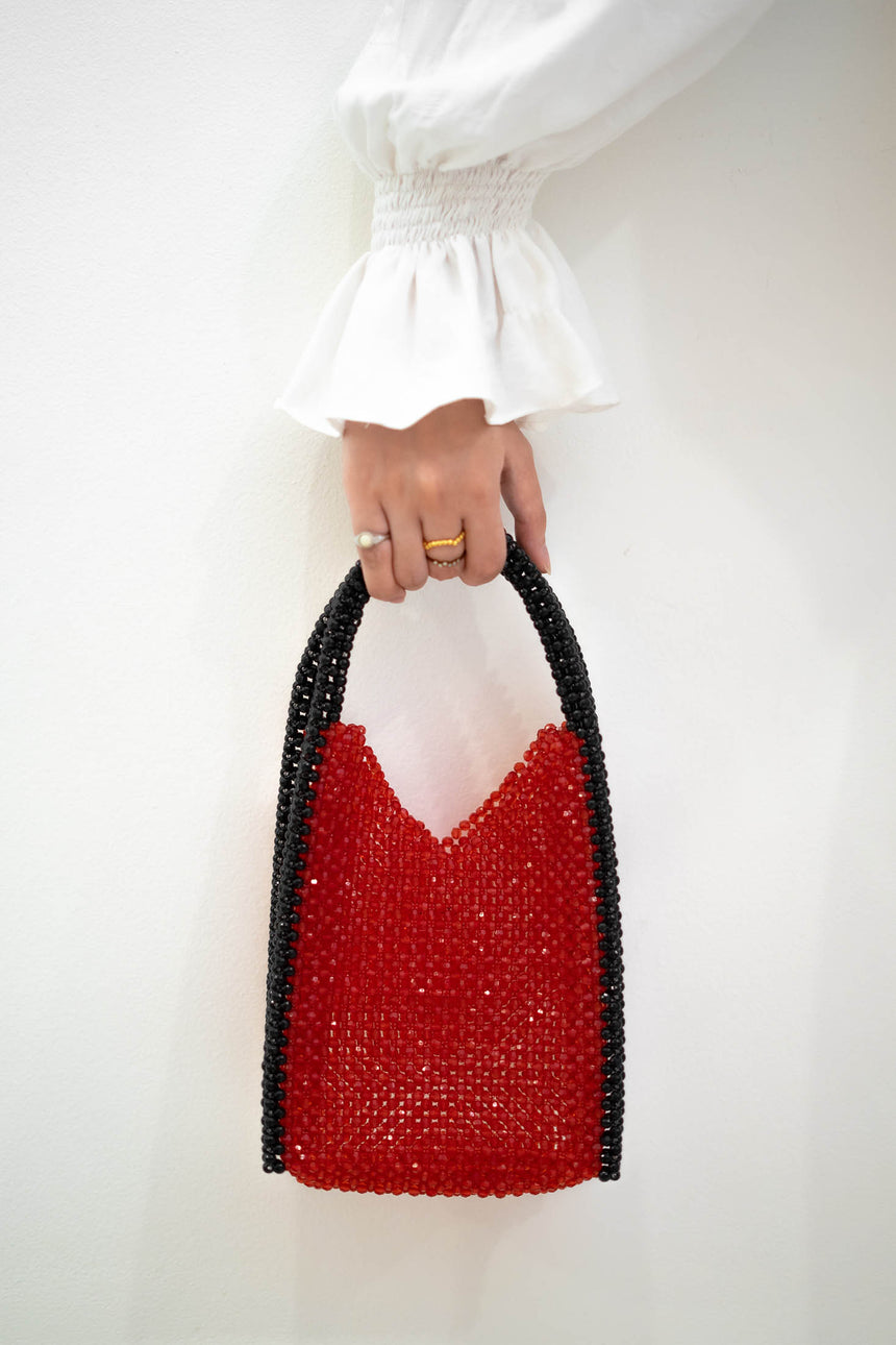 Amelie Bag in Black and Red