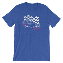 Load image into Gallery viewer, Jr. Dragster Driver Pink Writing T-Shirt
