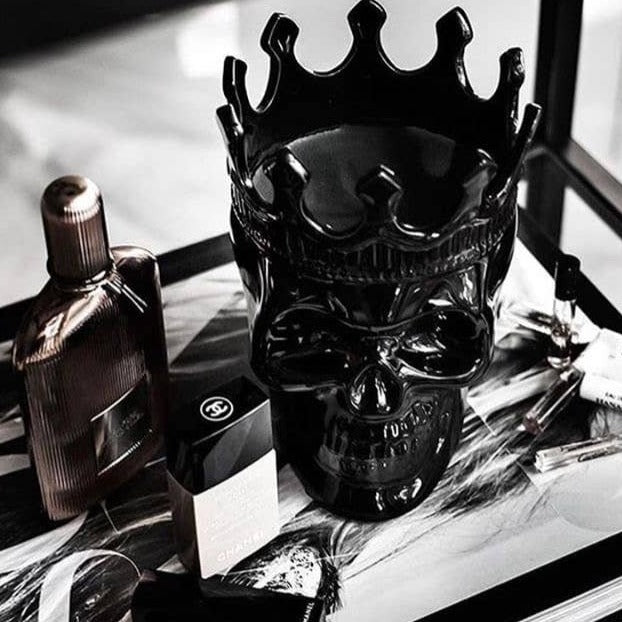 fisher-couture-com-Thompson Ferrier-Black Dantés Skull Candle in Secret Sucré