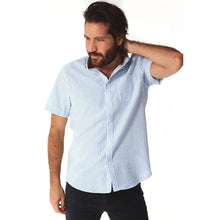Load image into Gallery viewer, fisher-couture-com-PX-Devin Seersucker Striped Shirt | Ocean Blue