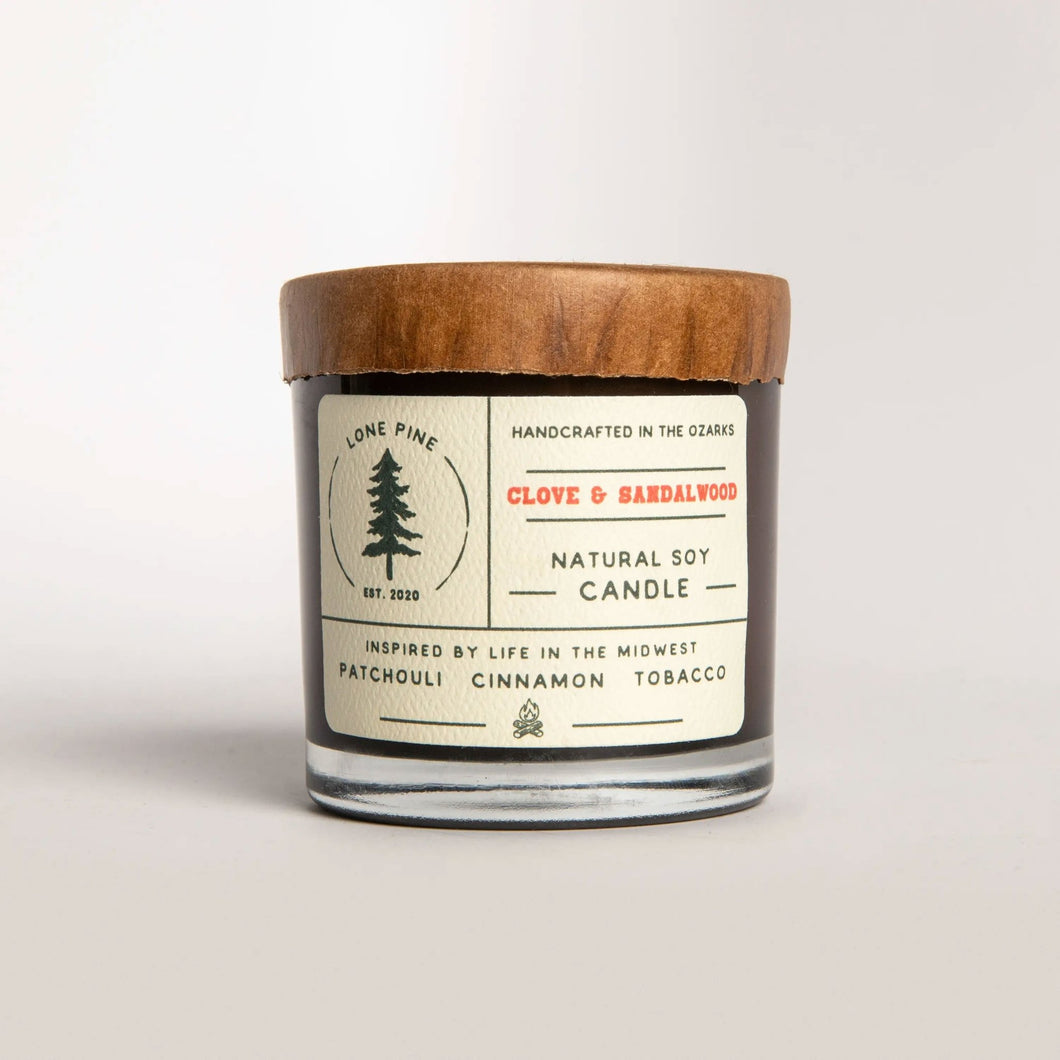 Clove & Sandalwood Soy Candle - Fisher Couture.com