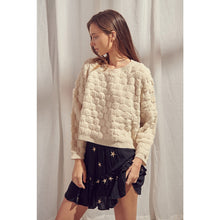 Load image into Gallery viewer, Fuzzy Basketweave Knit Sweater - Fisher Couture.com