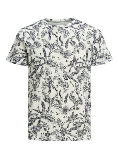 Mens Organic All Over Printed Crew Neck Tee Shirt - Fisher Couture.com