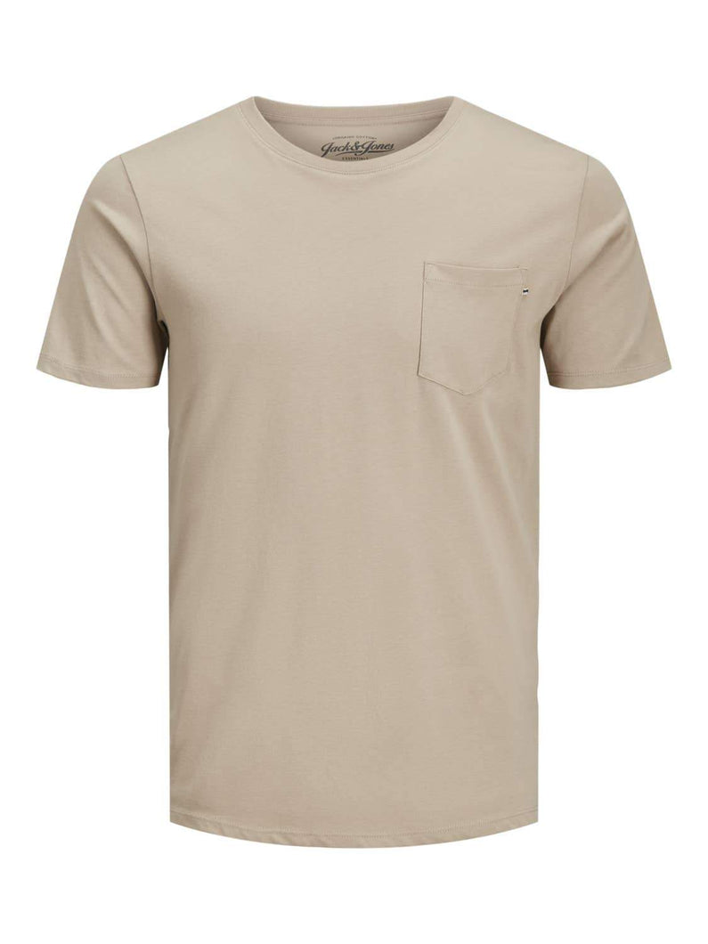 Mens Pocket Tee Shirt Beige - Fisher Couture.com
