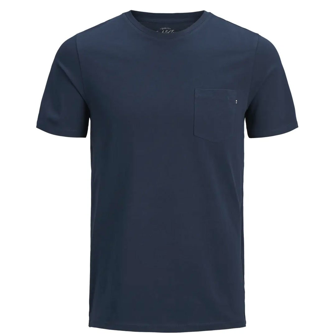 Mens Pocket Tee Shirt Navy - Fisher Couture.com