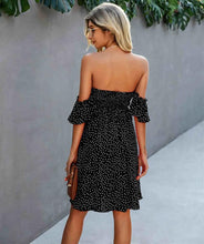 Load image into Gallery viewer, Off Shoulder Dress in Black - Fisher Couture.com