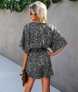 Speckled Spring Romper in Black - Fisher Couture.com