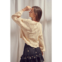 Load image into Gallery viewer, Zigzag Knit Pattern Sweater - Fisher Couture.com