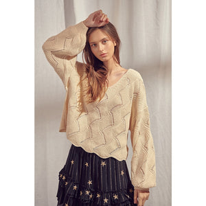 Zigzag Knit Pattern Sweater - Fisher Couture.com