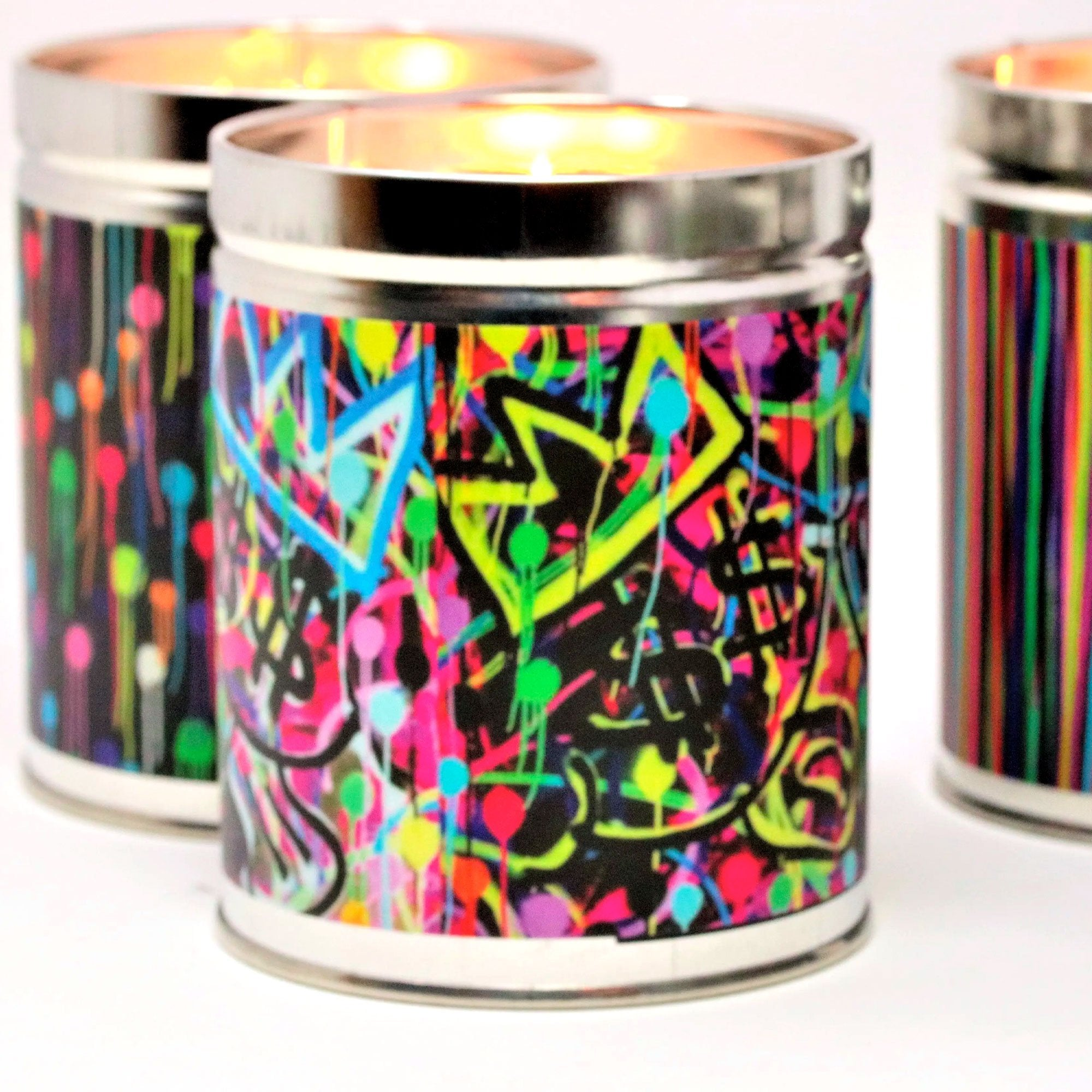 fisher-couture-com-Thompson Ferrier-Moneybags Singer22 pop art candle featuring Jean-Michel Basquiat's crown