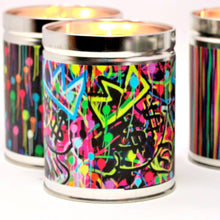 Load image into Gallery viewer, fisher-couture-com-Thompson Ferrier-Moneybags Singer22 pop art candle featuring Jean-Michel Basquiat's crown