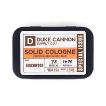 Load image into Gallery viewer, fisher-couture-com-Duke Cannon-Solid Cologne - Birchwood (Special Issue)