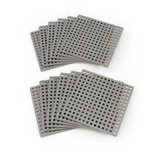 Baseplate 12-pack, Gray